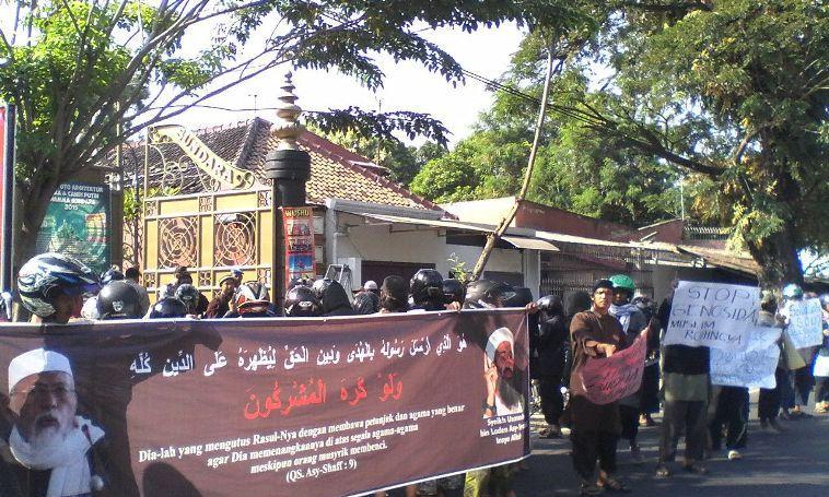 Demo Peduli Muslim Rohingya Di Kota Laskar Islam Solo Voa Islam Com